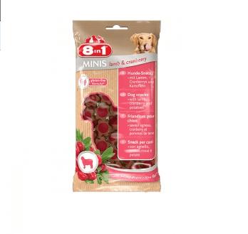 8in1 Minis - Лакомство за кучета с агнешко и червени боровинки